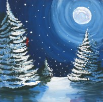 """""""Winter Wonderland"""" Painted by Justine Fry-a resident at Country Meadows of York"""