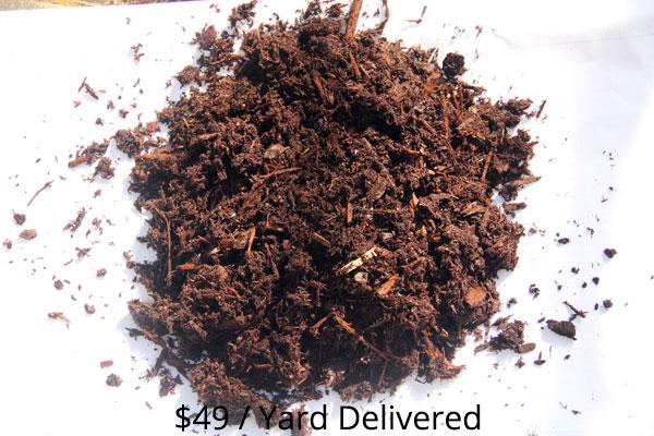 Bulk Hemlock Mulch sample