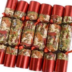 Christmas Crackers  White Natural Shabby Chic Crackers Rustic Doves  Hearts  Country gifts