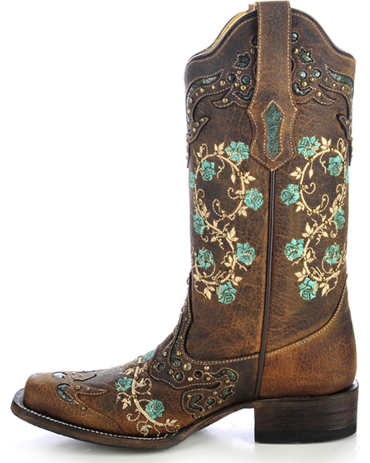 floral cowgirl boots