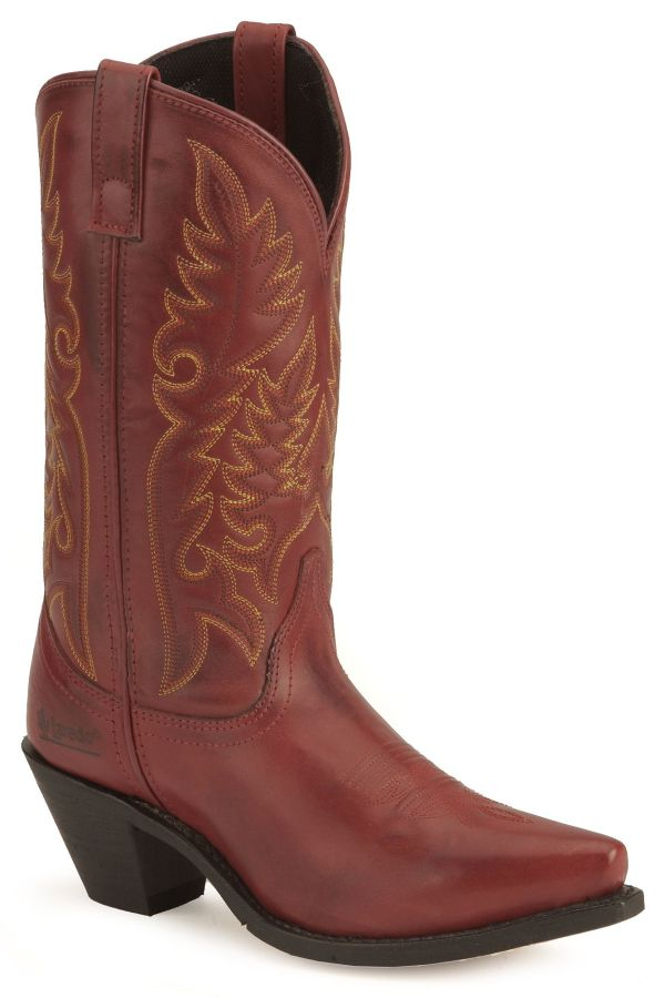 Laredo High Heel Red Cowgirl Boots - Snip Toe Country