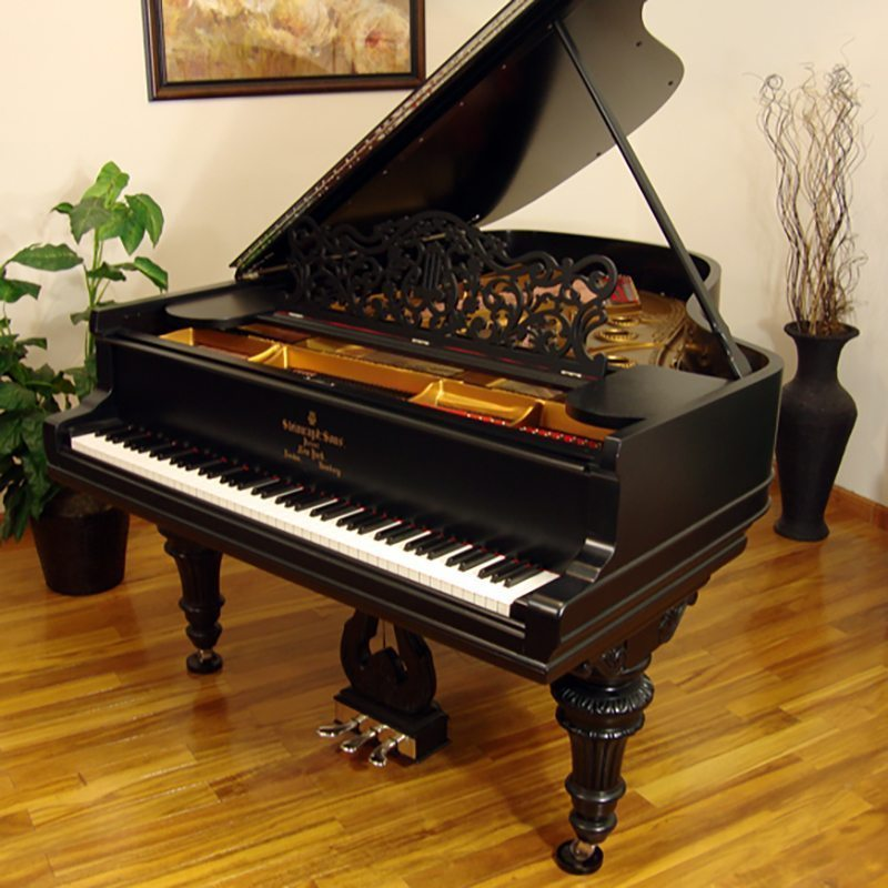 1906 Steinway A Grand Piano Victorian Style in Ebony