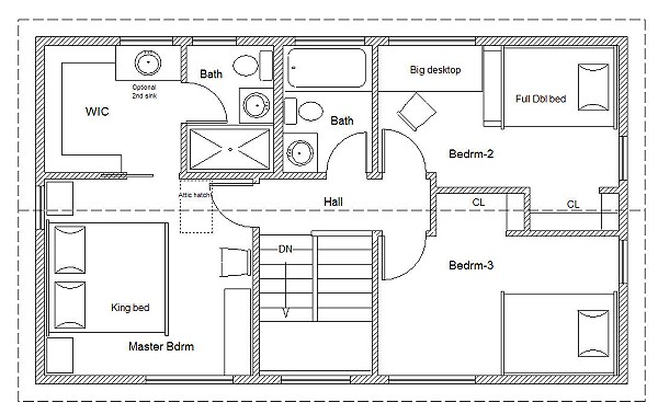 20' wide easy to customize home cottage or cabin plans