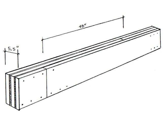 Wood Beams: Nailing Pattern For Built-up Wood Beams