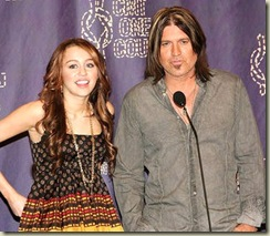 Miley and dad