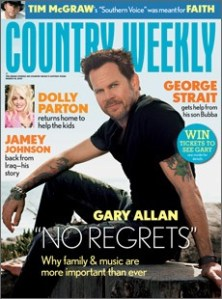 Gary Allan on Country Weekly's cover