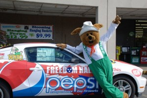 Independence Day Fireworks with the WXBQ Rabbit — and your chance to win a 2010 Ford Mustang!