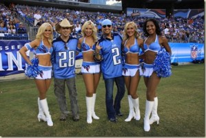 LoCash Cowboys with Tennessee Titan Cheerleaders