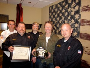 Craig Morgan honored by Tennessee City Volunteer Fire Department