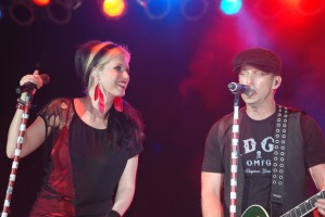 Thompson Square onboard the 2011 CSX Santa Train in November