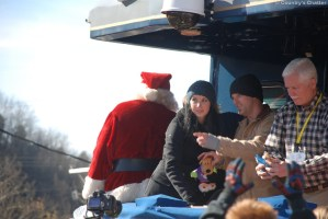 Thompson Square onboard for the 2011 journey of The Santa Train
