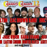 Tickets & Camping are on sale now for Country Concert 2012