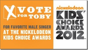 Toby Keith up for Kids Choice Award–Favorite Male Singer