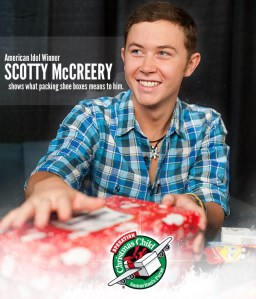 Scotty McCreery takes part in Operation Christmas Child