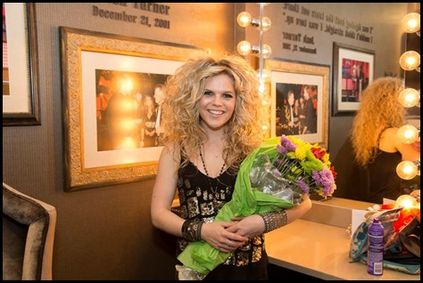 Natalie Stovall Dressing Room ©2014 Grand Ole Opry