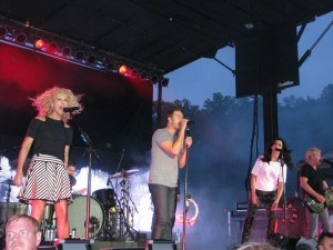 Little Big Town entertain the fans in Boone, N.C.