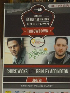 Ticket winners for Hometown Throwdown concert with Brinley Addington and Chuck Wicks