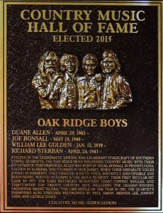 The Oak Ridge Boys inducted into Country Music Hall of Fame