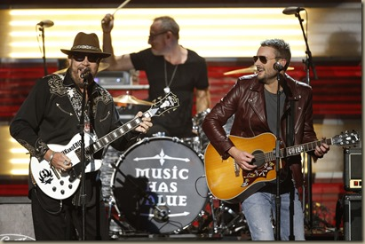 Hank Williams and Eric Church performs Are You Ready for the Country at The 49th Annual CMA Awards, live Wednesday, Nov. 4 at the Bridgestone Arena in Nashville and broadcast on the ABC Television Network.