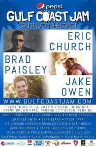 Eric Church, Brad Paisley, Jake Owen help Pepsi Gulf Coast Jam continue fundraising tradition to benefit St. Jude