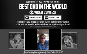 "Justin Moore launches ""Best Dad in the World Contest"" with the help of his daughters"
