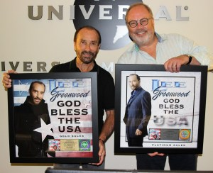 Lee Greenwood presented with sales awards for God Bless the U.S.A.
