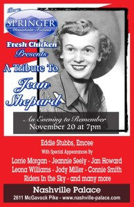 Jean Shepard Tribute Features Lorrie Morgan, Jeannie Seely, Jan Howard & More Nov. 20 At The Nashville Palace Presented By Springer Mountain Farms