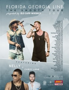Florida Georgia Line confirm headline The Smooth tour 2017 with Hip-Hop icon Nelly and breakout star Chris Lane