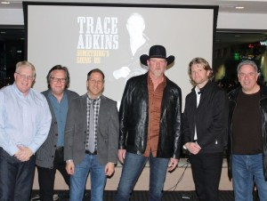 Trace Adkins previews new music from forthcoming album for media industry crowd