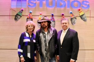 Billy Ray Cyrus helps celebrate Seacrest Studios 1st Anniversary