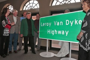 The State of Missouri honors country legend Leroy Van Dyke with the newly unveiled Leroy Van Dyke Highway Sign