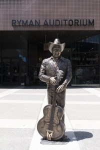 Brad Paisley and Ricky Skaggs  Unveil Bronze Statues of Musical Icons Little Jimmy Dickens and Bill Monroe at Historic Ryman Auditorium