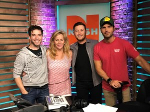 Scotty McCreery at NASH Mornings with Ty, Kelly, and Chuck