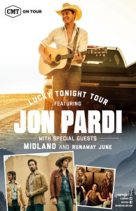 Jon Pardi Reveals Markets for CMT On Tour Jon Pardi's Lucky Tonight Tour