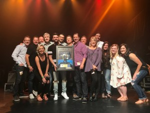 "Dylan Scott surprised with first career Gold for ""My Girl"" at sold-out debut NYC headlining concert, Aug. 1"