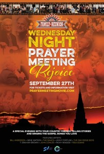 Renowned 'Wednesday Night Prayer Meeting: Rejoice' A Night Of Worship And Song to premiere In select theatres nationwide on Wednesday, September 27