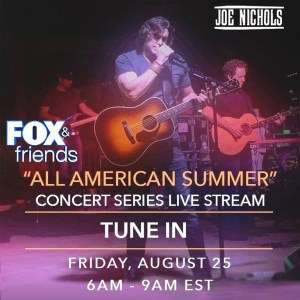 Joe Nichols on Fox & Friends on Friday