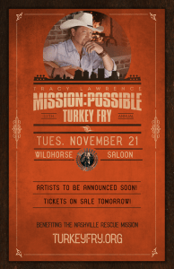Tracy Lawrence's 12th Annual Mission:Possible Turkey Fry – AFP Philanthropist of The Year Teams up with Artist Friends For 3rd Annual Concert