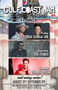 Eric Church, Florida Georgia Line, Thomas Rhett to headline Pepsi Gulf  Coast Jam