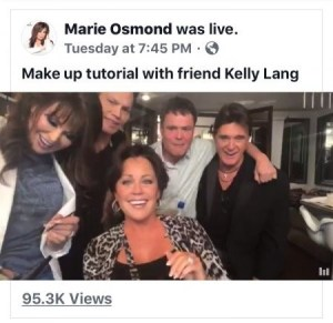 Marie Osmond invites fans backstage for makeup tutorial featuring Kelly Lang