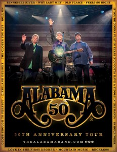 "Country Music Supergroup ALABAMA announces ""50th Anniversary Tour"""