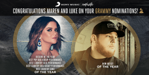 Maren Morris receives 5 GRAMMY nominations; Luke Combs up for Best New Artist!!!!