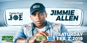 Jimmie Allen, The Cadillac Three, & Resurrection take the stage In January & FebruaryAt Cotton Eyed Joe