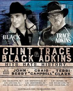 "Clint Black and Trace Adkins' ""The Hits. Hats. History. Tour"" Kicks Off May 2 in Charlotte"