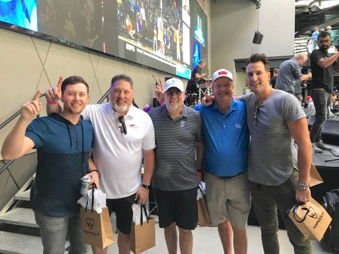 Scotty McCreery Russell Dickerson ACM Top Golf 2019 Winners