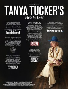 Tanya Tucker's new album While I'm Livin' continues to garner critical acclaim
