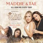 """CMT and Maddie & Tae announce headlining dates for 2022 """"CMT Next Women of Country Tour Presents: All Song No Static Tour""""; Callista Clark & Sacha join as special guests"""