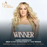 Carrie Underwood Collaboration with CeCe Winans Wins 2021 GMA Dove Award for Inspirational Recorded Song of the Year