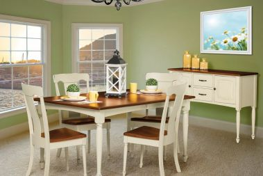 kitchen chairs white floor amish dining countryside furniture farmhouse