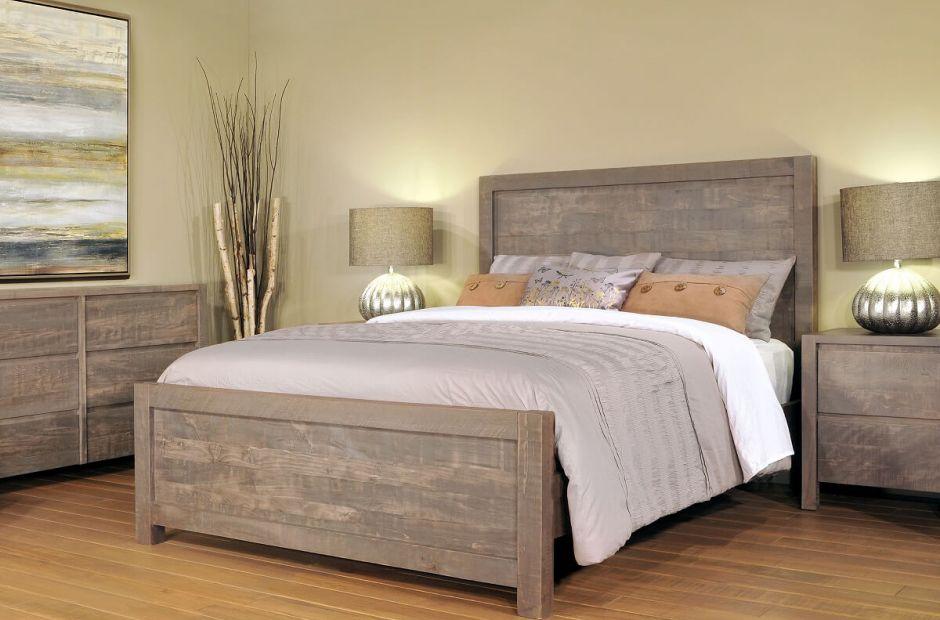 Naomi Rustic Grey Bedroom Set  Countryside Amish Furniture